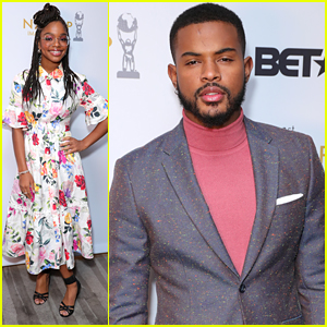 Trevor Jackson Suits Up Sharp For NAACP Image Awards Nomination Announcement With Marsai Martin
