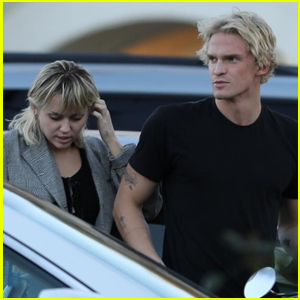 Miley Cyrus & Cody Simpson Go For Motorcycle Ride After Dinner