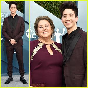 Milo Manheim Looks Super Handsome at SAG Awards 2020 With Mom Camryn