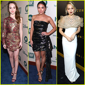 'The Unicorn' Star Ruby Jay Attends First Golden Globes Party with Ally Maki & More