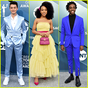 Noah Schnapp Steals The Show in a Shiny Suit at SAG Awards 2020