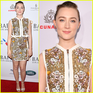 Saoirse Ronan Goes Pretty in Florals for BAFTA Tea Party