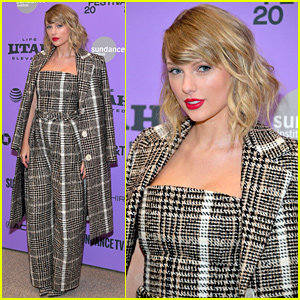 Taylor Swift is Pretty in Plaid While Bringing 'Miss Americana' to Sundance Film Festival