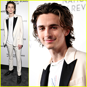 Timothee Chalamet Rocks Cool White Suit For National Board of Review Gala 2020