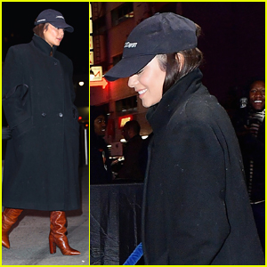 Vanessa Hudgens Goes Lowkey For Lakers Game Arrival in New York City