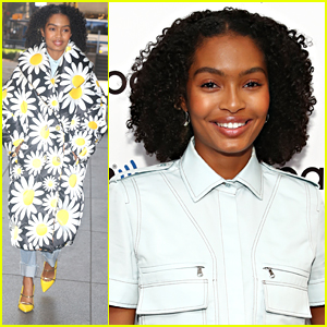 Yara Shahidi Gives Us Flower Power in Bold Coat While Promoting 'grown-ish' in NYC