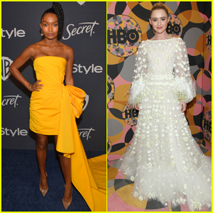 Yara Shahidi Goes Bright in a Yellow Dress for Golden Globes After-Parties!