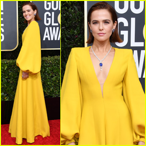 Zoey Deutch Brightens Up the Red Carpet at Golden Globes 2020!