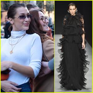 Bella Hadid Meets With Fans in Milan Ahead of Alberta Ferretti's Fashion Show