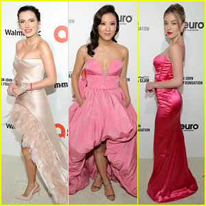 Bella Thorne, Ally Maki & Sydney Sweeney Go Pink For Elton John's Oscars 2020 Viewing Party