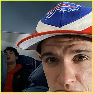 Casey Cott Sneaks Pic of Charles Melton Sleeping on Flight to Super Bowl 2020!