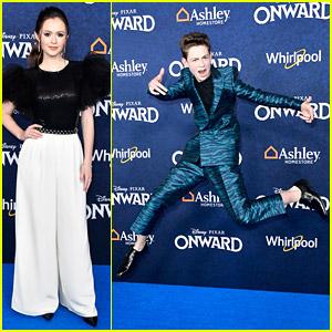 Dakota Lotus Jumps For Joy at 'Onward' Premiere With Olivia Sanabia & More!