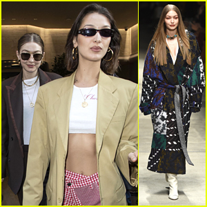 Bella & Gigi Hadid Pick Up A Treat After Walking in the Missoni Show in Milan