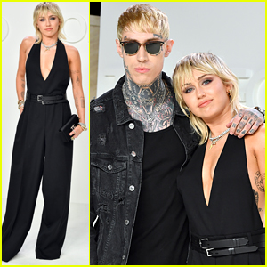 Miley Cyrus Brings Brother Trace To Tom Ford Fashion Show
