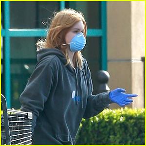 Ariel Winter Wears Mask & Gloves For Grocery Store Run
