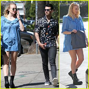 Joe Jonas & Pregnant Sophie Turner Make A Juice Bar Run