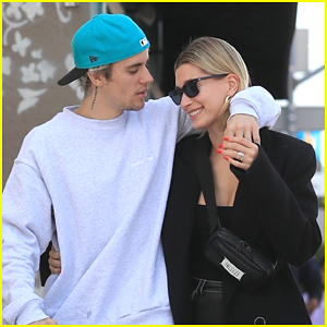 Justin Bieber Flirts & Kisses Wife Hailey Bieber In These Super Cute Photos