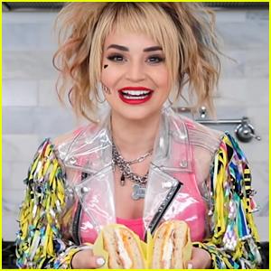 Rosanna Pansino Makes Harley Quinn's 'Perfect Egg Sandwich' From 'Birds of Prey' (Video)