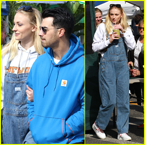 Sophie Turner & Joe Jonas Spend Their Sunday With Smoothies at the Farmer's Market