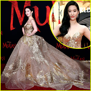 Mulan's Yifei Liu Looks Like a True Disney Princess at L.A. Premiere!
