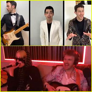 Jonas Brothers Suit Up For John Krasinski's Virtual Prom for High School Grads