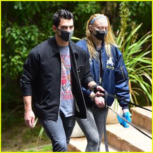 Joe Jonas & Sophie Turner Get Some Fresh Air While Walking Their Dogs