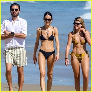 Sofia Richie Joins Boyfriend Scott Disick for a Beach Stroll