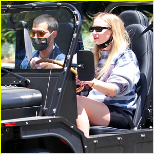 Sophie Turner Catches Some Sun On a Drive with Joe Jonas