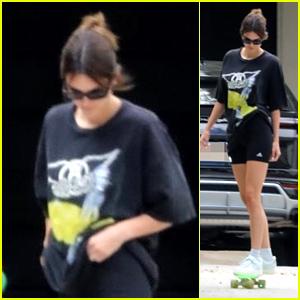 Kendall Jenner Goes Skateboarding With Friends in LA