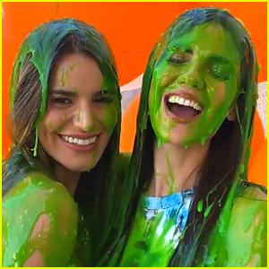 Victoria Justice & Sister Madison Grace Get Slimed After Hosting Kids' Choice Awards 2020