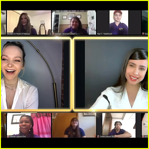 Dove Cameron & Sofia Carson Surprise High School Theater Students During Zoom Reunion