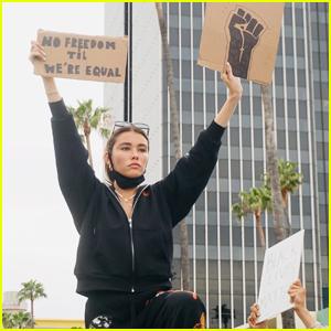 Madison Beer Joins George Floyd Protests in LA