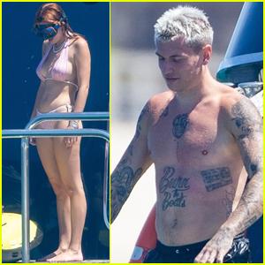 Bella Thorne & Boyfriend Benjamin Mascolo Enjoy an Afternoon a Yacht!