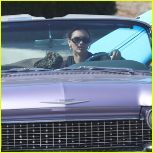 Kendall Jenner Goes for a Drive in Her Vintage Car