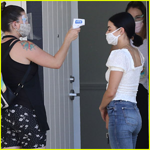 Lucy Hale Takes the Proper Precautions While Running Her Errands