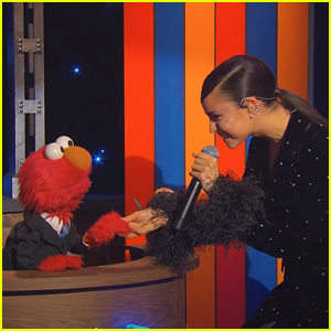 Sofia Carson Sings 'Hush Little Baby' On 'The Not-Too-Late Show With Elmo'