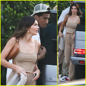 Kendall Jenner Arrives For Dinner Date Out With Rumored Beau Devin Booker