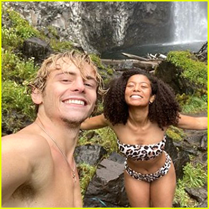Ross Lynch Shares Cute New Photos With Jaz Sinclair At a Waterfall