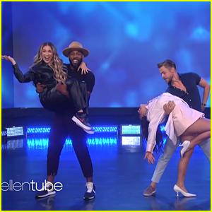 Addison Rae Makes 'Ellen Show' Debut, Dances With Derek Hough On Stage