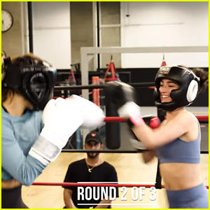 Dixie D'Amelio & Addison Rae Get In The Ring & Fight Each Other (Video)