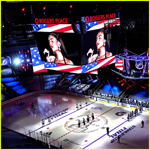 Madison Beer Performs National Anthem at Night 1 of Stanley Cup Finals (Video)