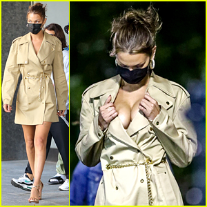 Bella Hadid Looks Fierce in Trench Coat Dress for a Photo Shoot