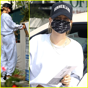 Hailey Bieber Takes Part in Early Mail-In Voting After A Fitness Class