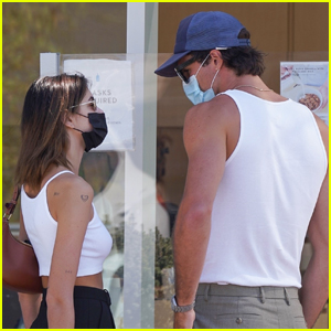 Jacob Elordi & Kaia Gerber Wear Coordinating Outfits While Out in Malibu