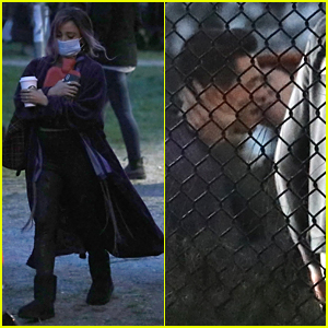 KJ Apa Pulls Casey Cott In For a Kiss On 'Riverdale' Set (Photos)