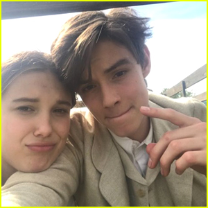 Louis Partridge Reveals Why He & Millie Bobby Brown Didn't Kiss In 'Enola Holmes'