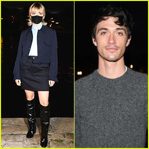 Maisie Williams & Jacob Bixenman Attend Ami Alexandre Mattiussi Fashion Show