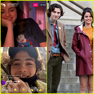 Selena Gomez Encourages Fans to Vote While on Instagram Live with Timothee Chalamet!