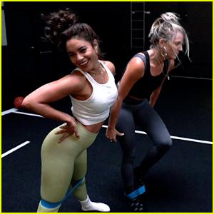 Vanessa Hudgens Shares BTS Look at Her Workouts!