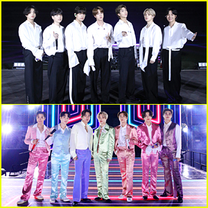 BTS Rock 2 Different Outfits For American Music Awards Performance